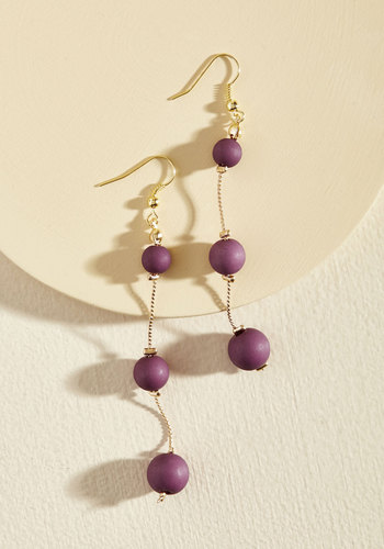 Bauble or Nothing Earrings in Grape - Red, Gold, Party, Cocktail, Holiday, Holiday Party, Winter, Gold, Good, Store 1