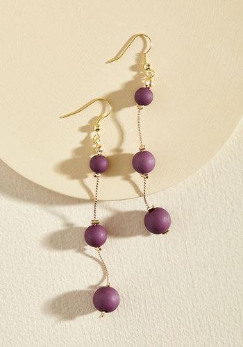 Bauble or Nothing Earrings in Grape