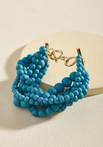 Brilliant Bauble Bracelet - Green, Blue, Gold, Solid, Beads, Party, Statement, Quirky, Winter, Gold, Good