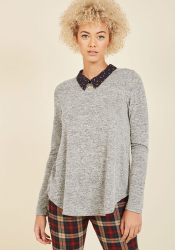 Mid-Morning Manner Knit Top