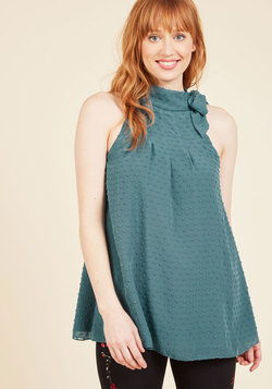Diligent Distinction Sleeveless Top in Teal