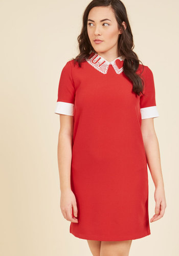 1960s Style Men's Clothing Just Say Yes Shift Dress $79.99 AT vintagedancer.com