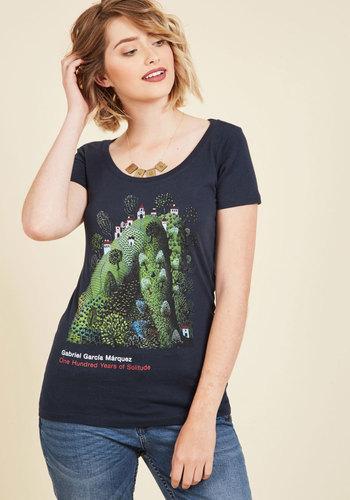 Novel Tee Cotton T-Shirt in Jose