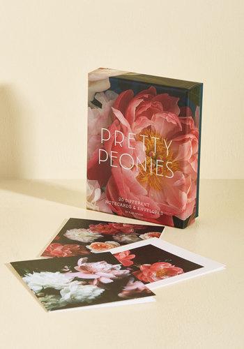 Pretty Peonies Notecard Set