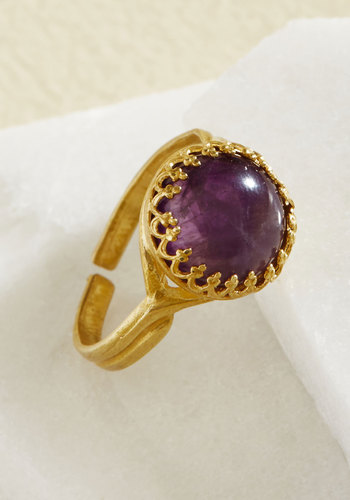 Ring Back to Life by Eclectic Eccentricity - Gold, Lavender, Party, Boho, Winter, Gold, Better, Store 1, Valentine's