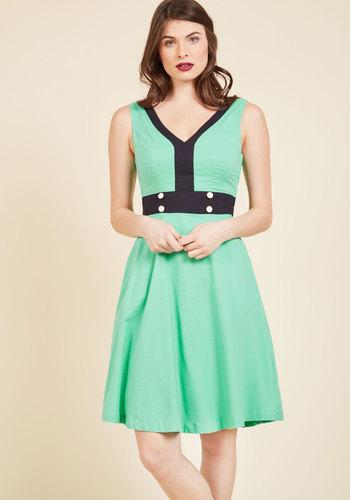 Peppy, Set, Go! A-Line Dress