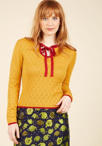 1930s Style Tops, Blouses & Sweaters Antique Market Maven Sweater $49.99 AT vintagedancer.com