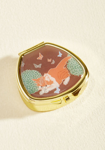 Kiss and Belle Lip Balm in Kitten - Gold, Brown, Print with Animals, Work, Casual, Quirky, Cats, Fall, Good, Store 1