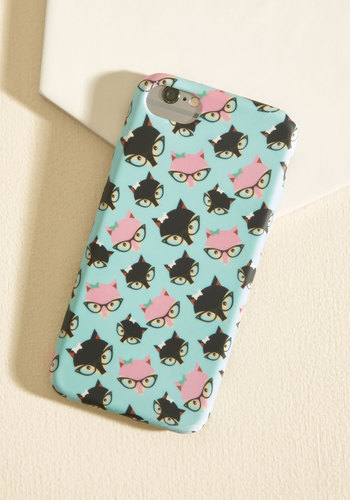 Fox Some Sense Into Ya iPhone 7 Case - Multi, Mint, Animal Print, Print with Animals, Casual, Quirky, Critters, Winter, Good, Under $20, Stocking Stuffers, Critter Gifts, Unique Gifts, Under 25 Gifts