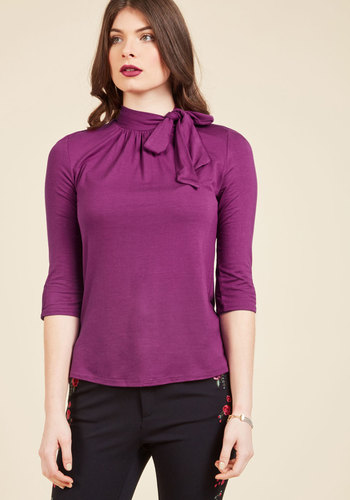 Vintage & Retro Shirts, Halter Tops, Blouses and more Fashionable Focus Top in Magenta $39.99 AT vintagedancer.com