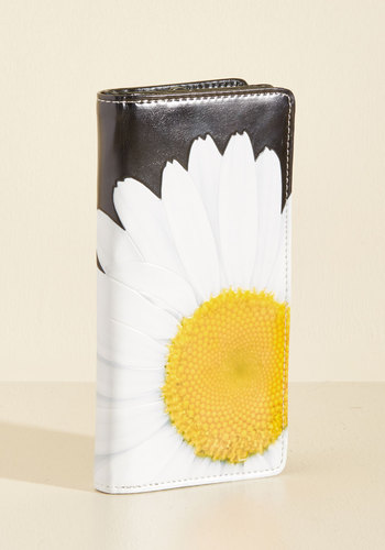 Daisy Does It Wallet - Black, Yellow, White, Floral, Work, Casual, Winter, Better, Beach/Resort, Store 1, Spring