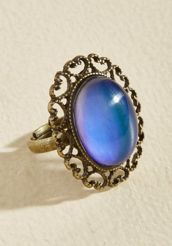 1960s Costume Jewelry – 1960s Style Jewelry Feeling the Turn Color-Changing Ring $12.99 AT vintagedancer.com