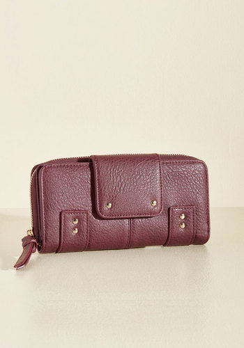 Spend Me Away Wallet - Red, Studs, Work, Casual, Winter, Better, Faux Leather