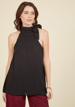 Diligent Distinction Sleeveless Top in Black