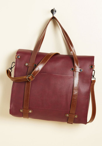 Camp Director Tote in Mahogany - Red, Nifty Nerd, Fall, Better, Faux Leather, Brown, Work, Exclusives, Variation, Statement, Scholastic/Collegiate, Store 1