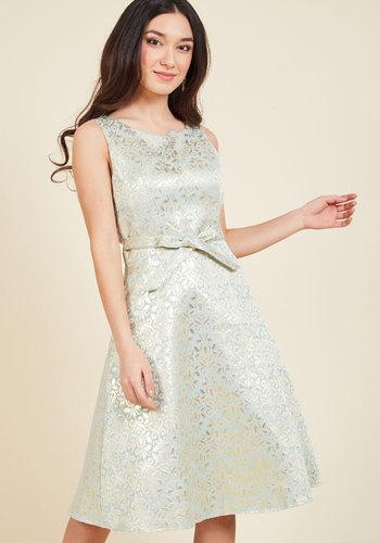 Vintage Inspired Wedding Dresses All Your Allure A-Line Dress in Mint $149.99 AT vintagedancer.com