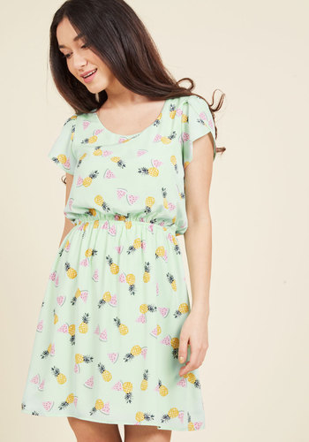 Oh My Gosh A-Line Dress in Tropics in M