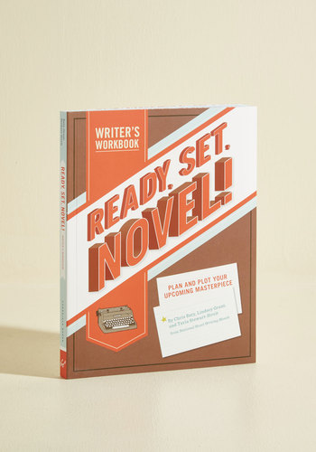 Ready, Set, Novel! Writer's Workbook by Chronicle Books - Scholastic/Collegiate, Good, Top Rated, Red, Graduation, Dorm Decor, Handmade & DIY, Best Seller, Pop Culture Gifts, Unisex Gifts, Under 25 Gifts, Unique Gifts