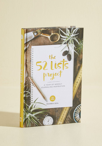 The 52 Lists Project - A Year of Weekly Journaling
