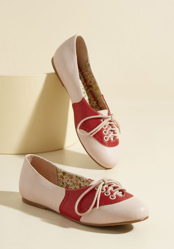 Retro & Vintage Style Shoes Study Buddies Flat in Red $59.99 AT vintagedancer.com
