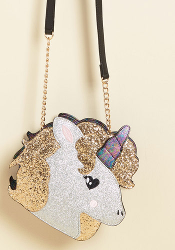 Myth Pleasure Purse by Betsey Johnson - Silver, Chain, Party, Casual, Daytime Party, Quirky, Critters, Winter, Better, Statement, Valentine's, Store 1