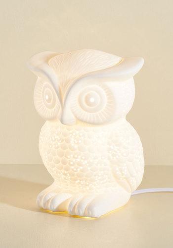 Nocturn-owl Lifestyle Lamp - White, Dorm Decor, Owls, Best Seller, Best Seller, Mid-Century, Better, Folk Art, Woodland Creature, Fall, Halloween, Bird, Gals, Critter Gifts, Under 100 Gifts, Tis the Season Sale