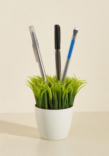 Ideas in Bloom Desk Organizer by Kikkerland - Multi, Quirky, Green, White, Graduation, Under $20, Summer, Work, Green, Best Seller, Best Seller, Unisex Gifts, Under 25 Gifts