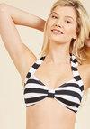 Bathing Beauty Swimsuit Top in Black Stripes