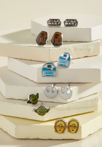 Endorse the Force Earrings Set - Multi, Casual, Quirky, Cosmic, Good, Nifty Nerd, Sci-fi, Gifts2015, Gals, Spring, Pop Culture Gifts, Under 25 Gifts, Unique Gifts, Tis the Season Sale