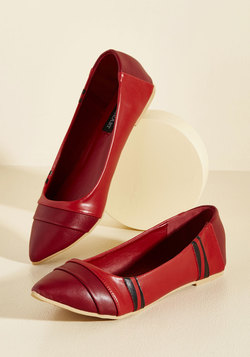 The Wax of Life Flat in Scarlet