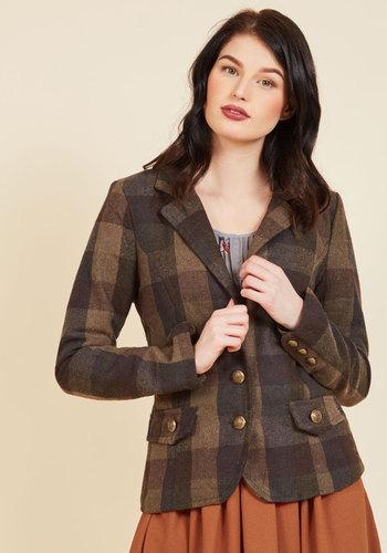Retro Vintage Style Coats, Jackets, Fur Stoles Prestigious Professor Blazer $59.99 AT vintagedancer.com