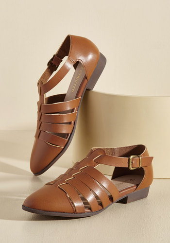 Vintage Style Sandals – 1930s, 1940s, 1950s, 1960s My Strappy Dance Flat $59.99 AT vintagedancer.com