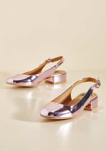 Retro & Vintage Style Shoes Fall Into Shine Heel $44.99 AT vintagedancer.com