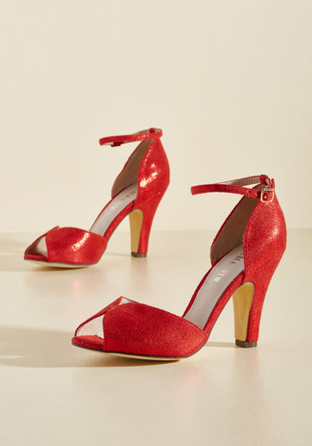 Retro & Vintage Style Shoes Fine Dining Heel in Ruby $69.99 AT vintagedancer.com