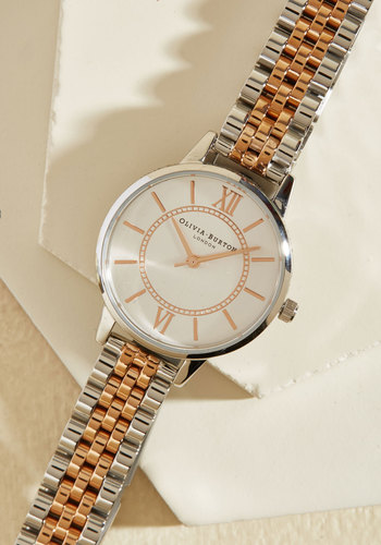 Head of the Classic Watch in Silver & Gold by Olivia Burton - Gold, Silver, Work, Casual, Menswear Inspired, Better, Fall, Winter, Luxe Gifts