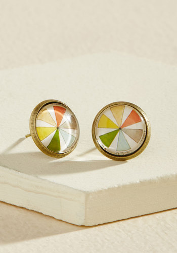 Couleur, Calm, Collected Earrings - Multi, Bronze, Vintage Inspired, Quirky, Winter, Gold, Good