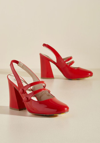Retro & Vintage Style Shoes Sensational by Design Heel in Cherry $59.99 AT vintagedancer.com