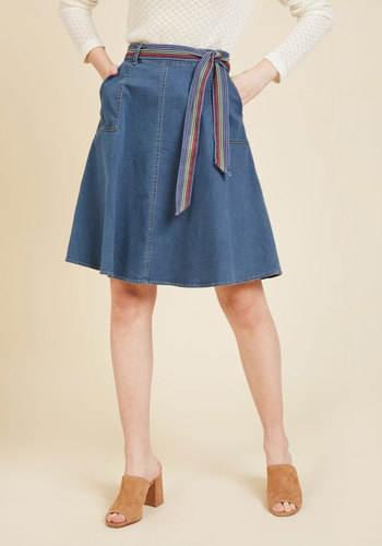 Imaginative Affirmation Denim Skirt in M
