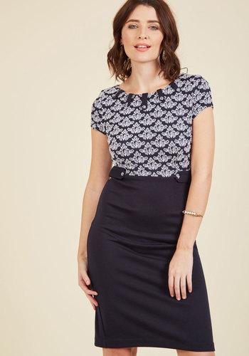 1960s Plus Size Dresses & Retro Mod Fashion Keeping Tabs Sheath Dress $89.99 AT vintagedancer.com