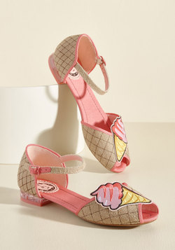 Cone and Get It Peep Toe Flat