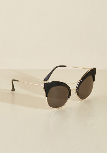 Got Aflutter Thing Coming Sunglasses by PERVERSE sunglasses - Black, Solid, Daytime Party, Beach/Resort, Statement, Urban, Cats, Winter, Plastic, Best, Spring, Store 1