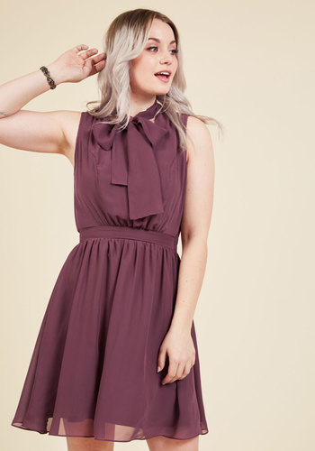 Give it Timeless A-Line Dress in Aubergine