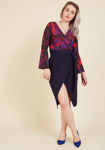 Professional Poise Twofer Dress by Closet London - Woven