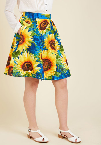 The Need for Seeds A-Line Skirt