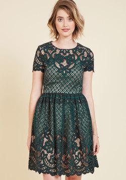 Luxuriant Lace Mini Dress