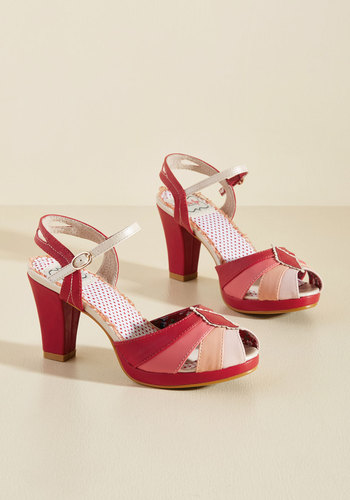 Retro & Vintage Style Shoes Shades of Sweetness Peep Toe Heel $64.99 AT vintagedancer.com