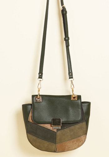 Far-Out Final Touch Bag in Herb - Green, 70s, Fall, Good, Casual, Colorblocking