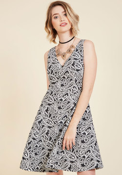 Mutual Moxie Fit and Flare Dress