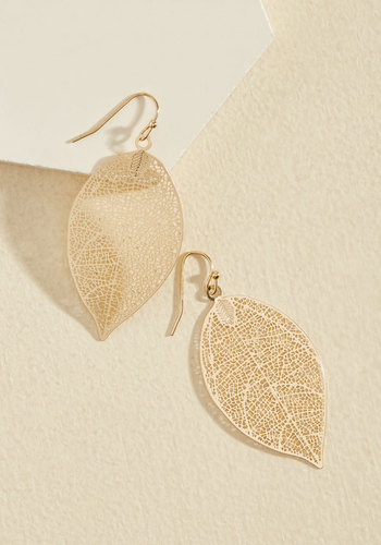 You're Frond to Something Earrings - Gold, Solid, Cutout, Boho, Gold, Top Rated, Party, 70s, Best Seller, Best Seller