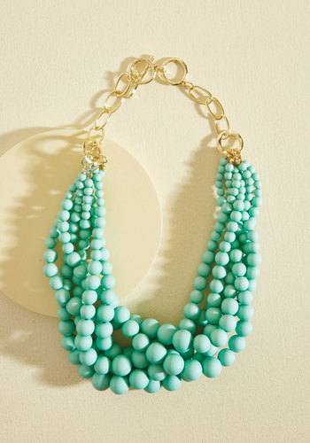 Burst Your Bauble Necklace in Aqua